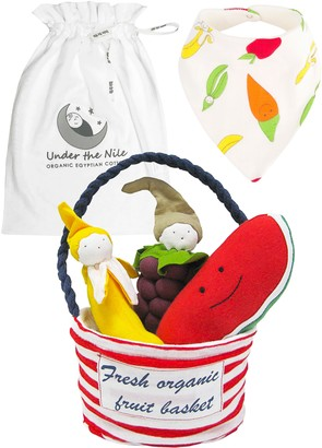 Under the Nile Fruit Food Plush Toys, Bib & Tote Set