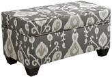 Skyline Furniture Storage Bench in Java Pewter