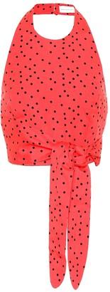 Rebecca Vallance Holliday linen-blend polka-dot top