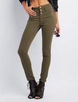 Charlotte Russe Refuge Hi-Waist Skinny Denim Jeans