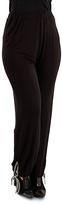 Aster Black & White Stripe Harem Pants - Plus Too
