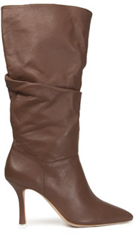 Black Suede Studio Grecia Slouchy Knee High Boot Brown