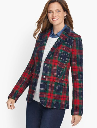 Talbots Classic Shetland Blazer - Evening Plaid