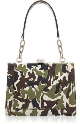 Miu Miu Printed Leather Shoulder Bag
