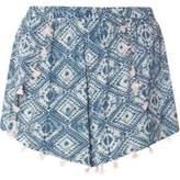 Dorothy Perkins Womens Tile Print Tassel Shorts- Fl Multi