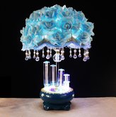 JIAMIN K9 crystal Marry practical roses lamp flower taple lamp