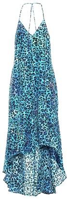 Anna Kosturova Exclusive to Mytheresa Leopard-print silk asymmetric dress