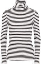 Splendid Venice Striped Stretch-jersey Turtleneck Top - Black