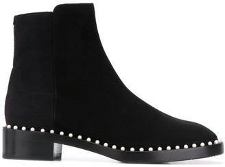 Stuart Weitzman Stud-Trim Ankle Boots