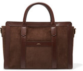 A.P.C. Lola Leather-Trimmed Suede Tote