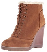 Jessica Simpson Womens Kaelo Suede Faux Fur Wedge Boots
