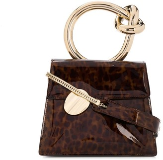 Benedetta Bruzziches Gold Ring Handle Tortoise Effect Tote Bag
