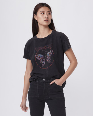 Paige Ryo Tee Butterfly Graphic-Washed Onyx