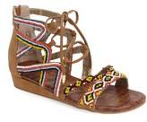 Sam Edelman Girl's Danica Beaded Gladiator Sandal