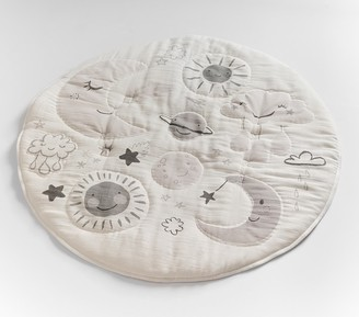 Pottery Barn Kids Skye Moon & Stars Muslin Travel Play Mat