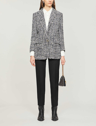 The Kooples Single-breasted tweed jacket