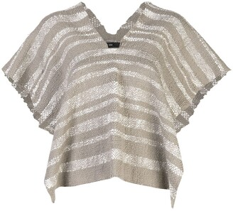 Voz Gradient knitted poncho