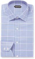 Tom Ford Blue Slim-Fit Checked Cotton Shirt