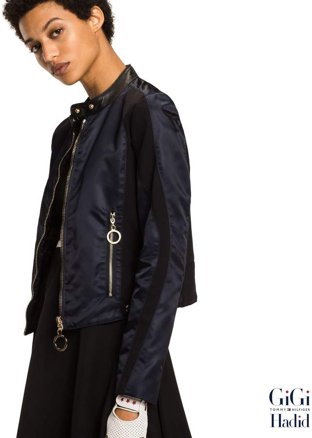 Tommy Hilfiger Gigi Hadid Satin Moto Jacket