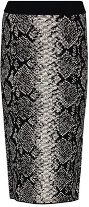 Escada Sport Python Knit Pencil Skirt