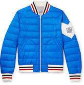 Moncler Gamme Bleu Quilted Shell Down Bomber Jacket