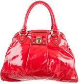Marc Jacobs Pleated Patent Leather Satchel