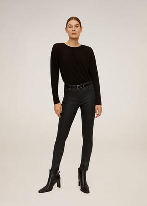 MANGO Coated Isa crop skinny jeans