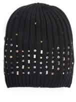 Halogen Women's Embellished Beanie - Black