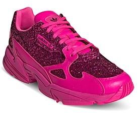adidas Women's Falcon Glitter Low-Top Dad Sneakers