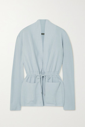 Loro Piana Belted Cashmere And Silk-blend Cardigan - Light blue