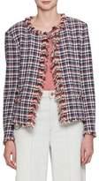 Etoile Isabel Marant Nawell Open-Front Tweed Jacket