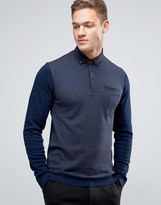 Ted Baker Longsleeve Polo Shirt With Contrast Sleeve