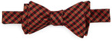 Ted Baker Houndstooth Silk Bow Tie, Brown