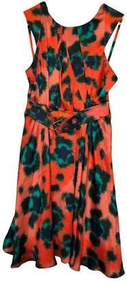 Kenzo Orange Silk Dresses