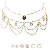Charlotte Russe Embellished Chokers & Stud Earrings Set