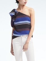 Banana Republic Easy Care One-Shoulder Bow Top