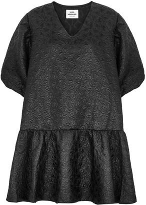 Mads Norgaard Destilla black floral-jacquard mini dress
