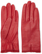 Fownes Knit Trim Leather Gloves