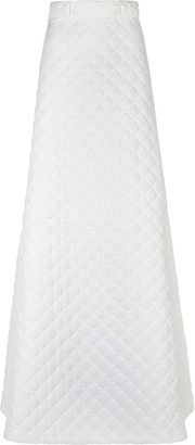 Fendi quilted long A-line skirt