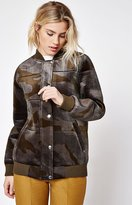 Members Only Velour Camouflage Bomber Jacket