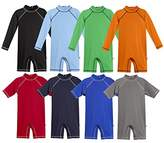 City Threads Boys' Sun Suit SPF50+ Protection Rash Guard One Piece Made in USA