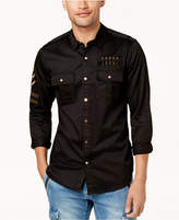 GUESS Men's Embroidered Slim Fit Shirt