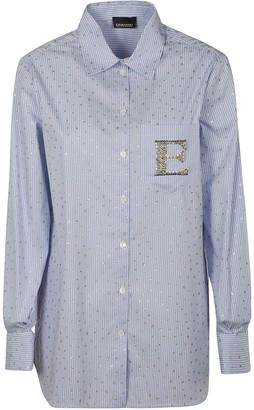 Ermanno Scervino Stripe Embellished Shirt