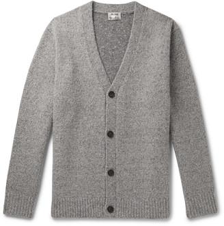 Acne Studios Ribbed Melange Wool-Blend Cardigan