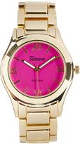 Geneva Platinum Hot Pink & Gold Bracelet Watch