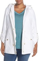 Ellen Tracy Plus Size Women's Roll Sleeve Sailcloth Anorak