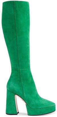 Gucci Platform Knee-High Boots