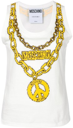 Moschino Chain-Necklace Vest Top