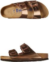 Birkenstock Arizona Metallic Leather Sandal Pink