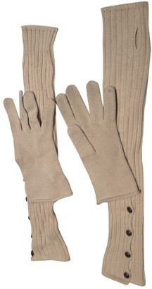 Louis Vuitton Beige Cashmere Gloves